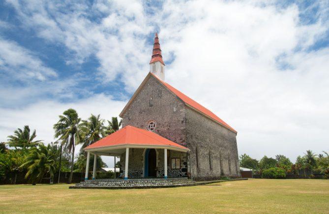 Eglise Notre-Dame de la Paix de Tautira. © Tahiti Heritage