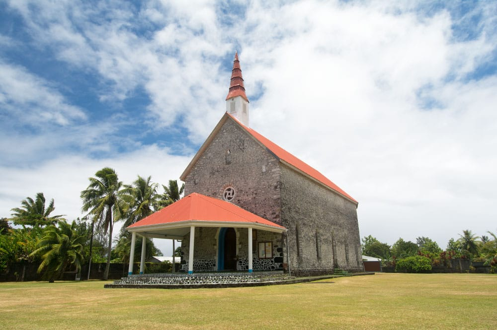 Eglise Notre-Dame de la Paix de Tautira. © Tahiti Heritage