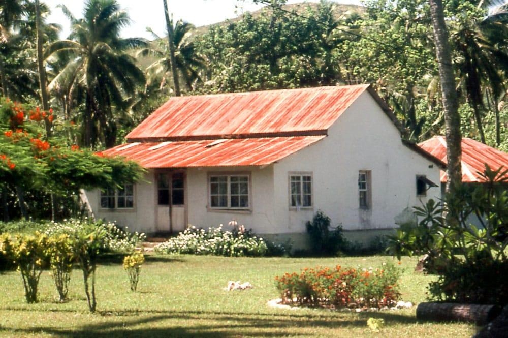 Ancienne maison en chaux de Mataura , Tubuai