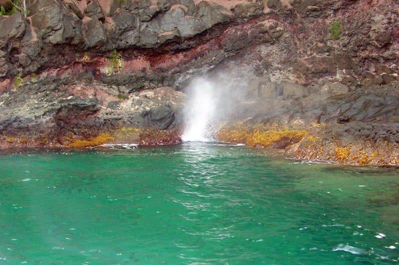 Puhi Puhi, le trou du souffleur de Mangareva. Tahiti Heritage