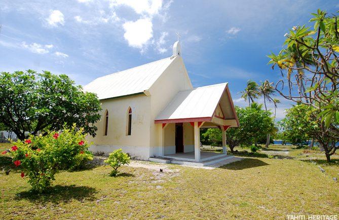 Eglise Maria O Te Hau de Tetamanu à Fakarava © Tahiti Heritage