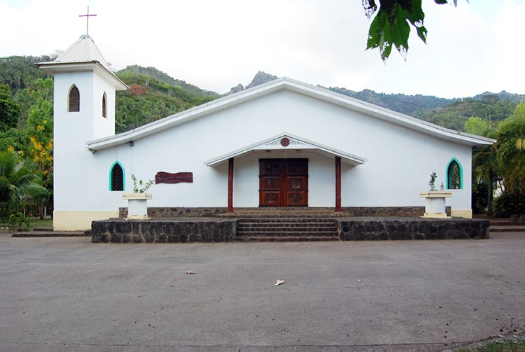 Eglise de l'immaculée Conception, Atuona, Hiva Oa. Photo Purutaa