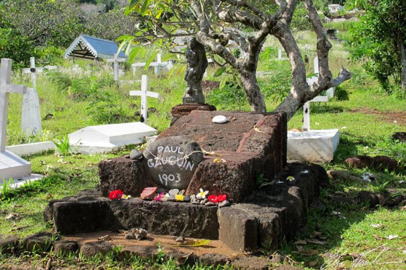 Tombe de Paul Gauguin, cimetière d'Atuona, Hiva Oa. Photo Elsa Fernicle