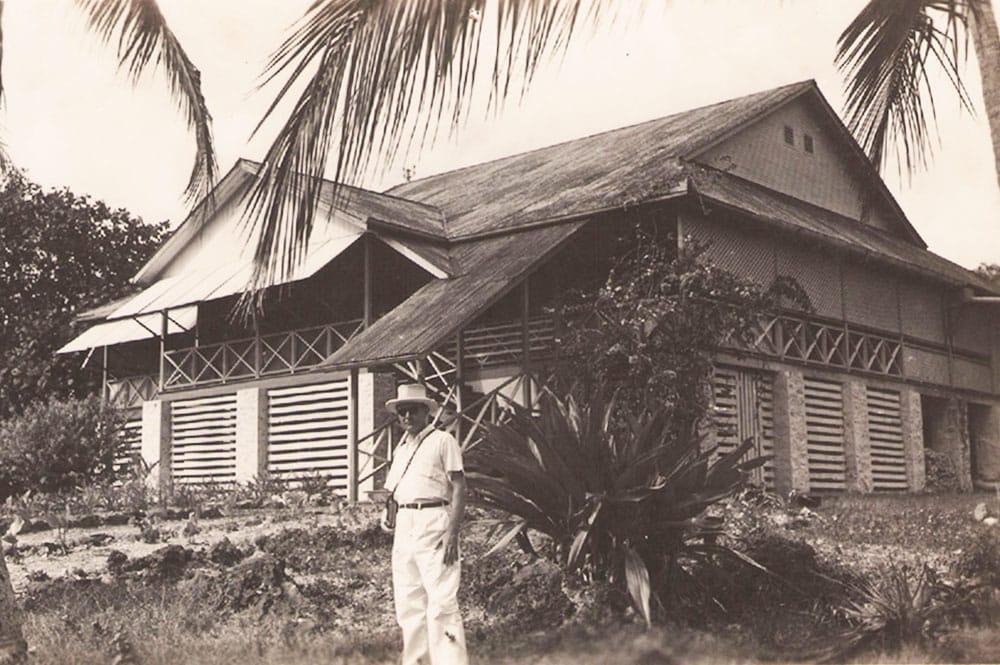 Maison du directeur des mines de Makatea. Col. Fayadat
