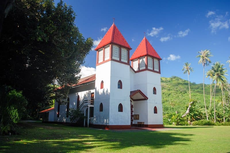 Eglise de Haapiti à Moorea © Tahiti Heritage / Olivier Babin