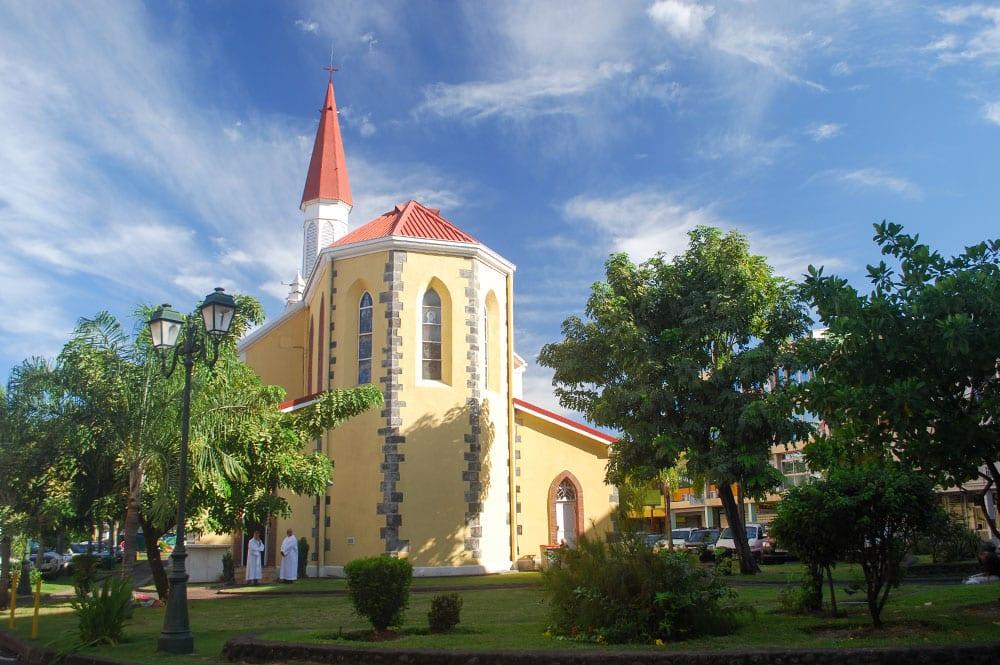 L'arrière de la cathédrale Notre-Dame de Papeete, Tahiti en 2015 © Tahiti Heritage