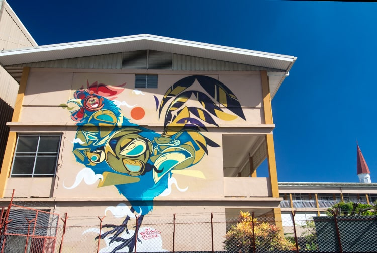 Street art, le coq d'Anne Marie