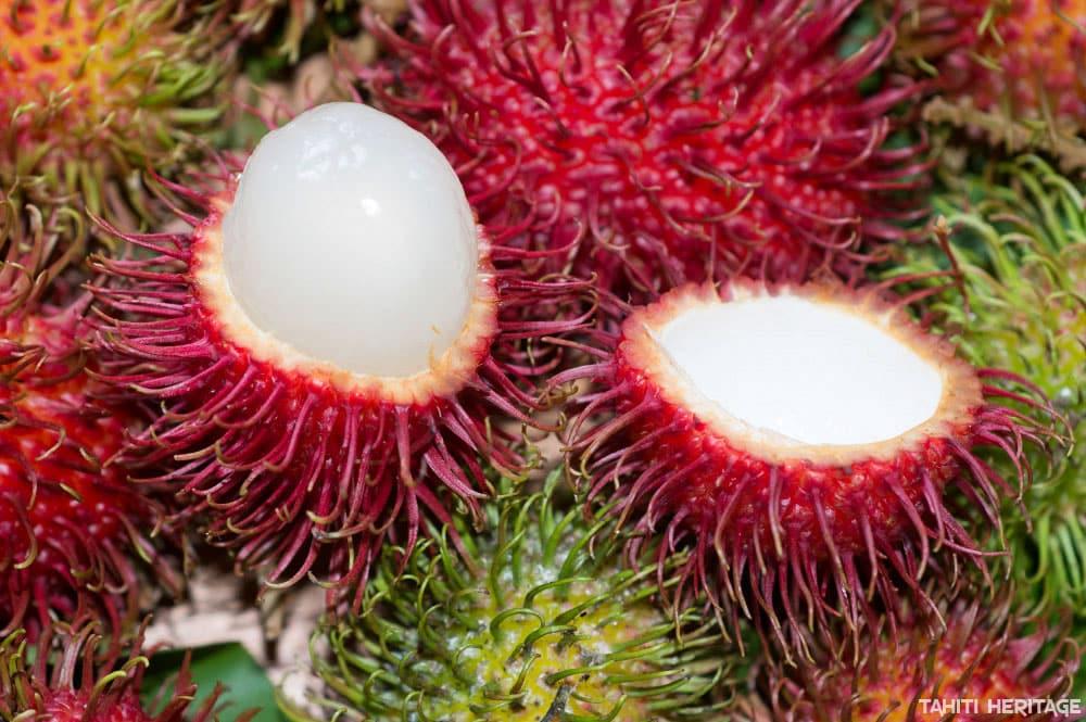 Fruits de Ramboutan de Tahiti