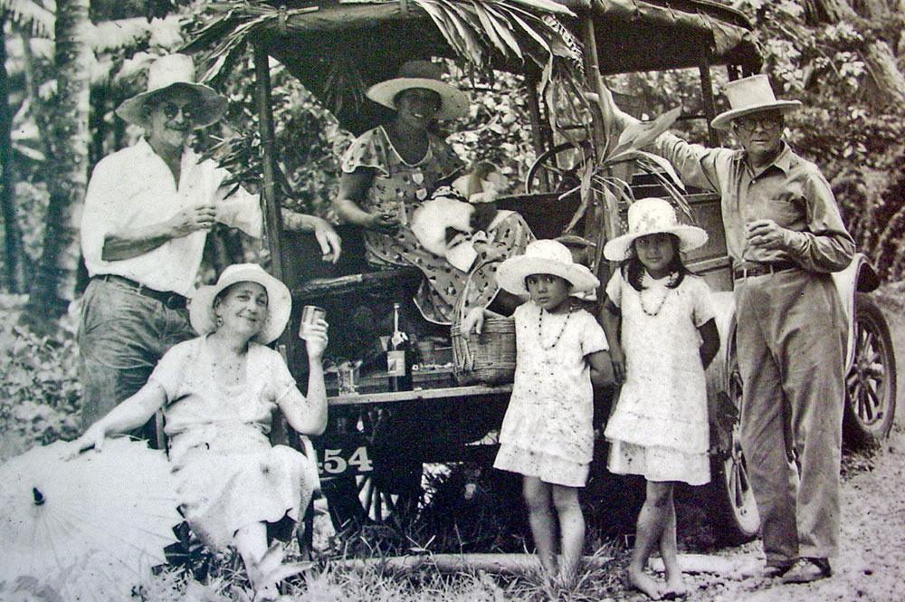 La maison d'Harrison Smith sur le motu Ovini à Papeari