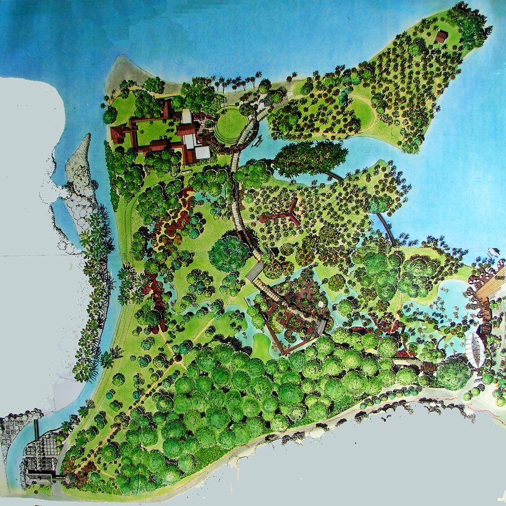 Projet d'aménagement du jardin botanique du paysagiste Jorcin en 2002