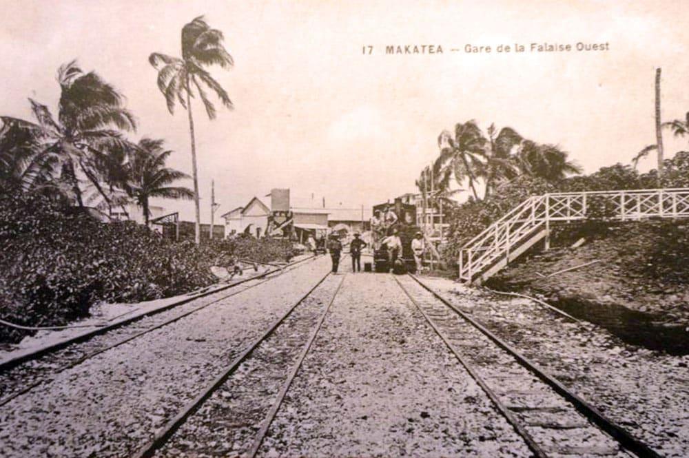 Gare de la falaise ouest, à Makatea