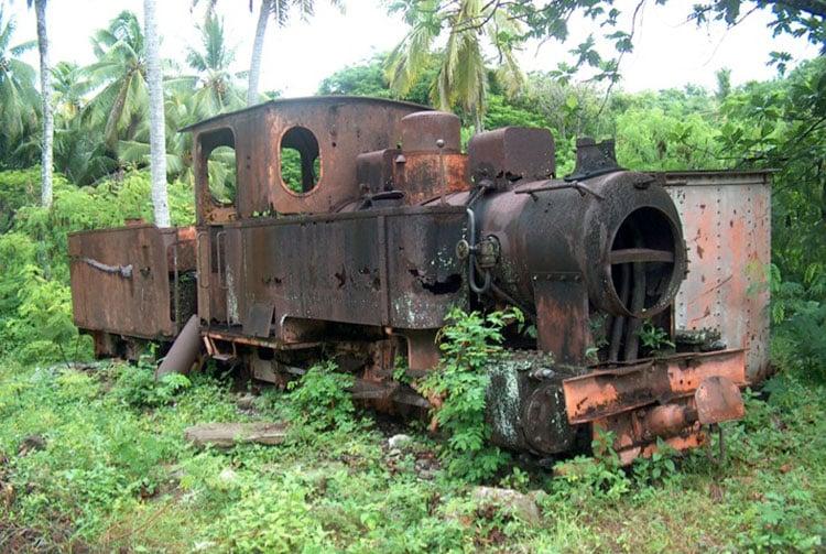 Locomotive vapeur de Makatea en 2004