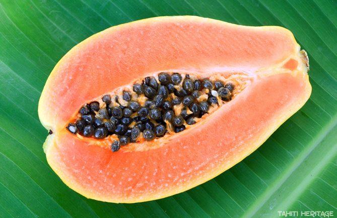 Papaye de Tahiti - Papaya carica. © Tahiti Heritage