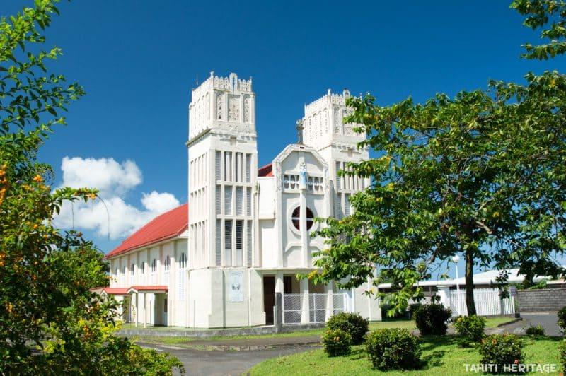 Eglise du Sacré coeur-de-Marie de Taravao, Tahiti. © Tahiti Heritage