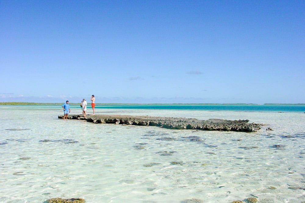 Le rocher papa Mataiva, le pito de l'atoll de Mataiva © Tahiti Heritage