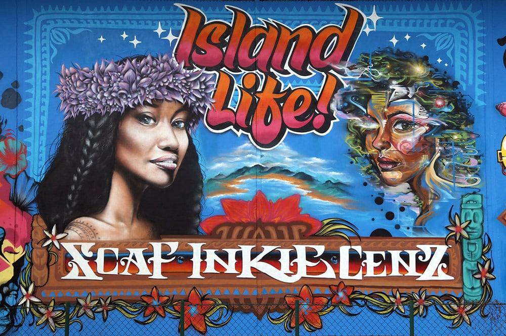 Street Art, Island Life chez Aming Papeete. Onou 2017