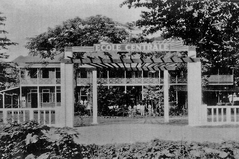 Ecole centrale de Papeete en 1940