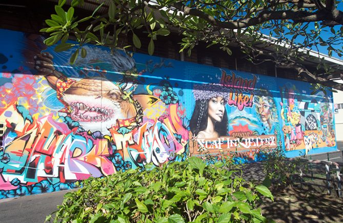 Street art, Island life, chez Aming, Papeete