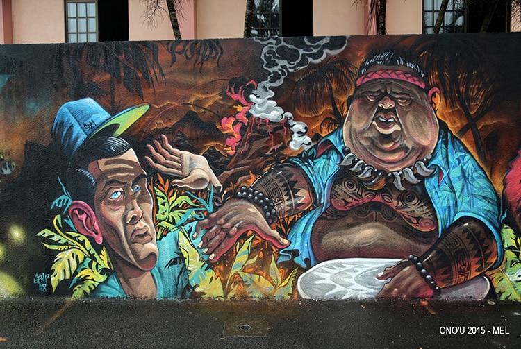 Street Art, maohi école Sainte-Thérèse à Papeete