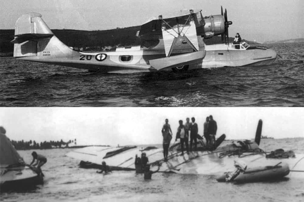 L'Hydravion Catalina 20 à Hikueru
