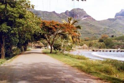 Front de mer de Taiohae en 1965