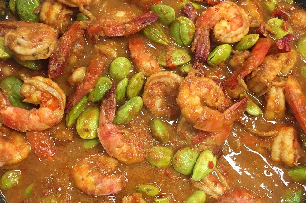 Crevettes aux graines de Petai