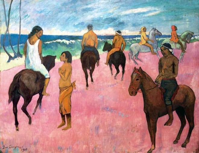 Gauguin, cavaliers sur la plage. Atuona