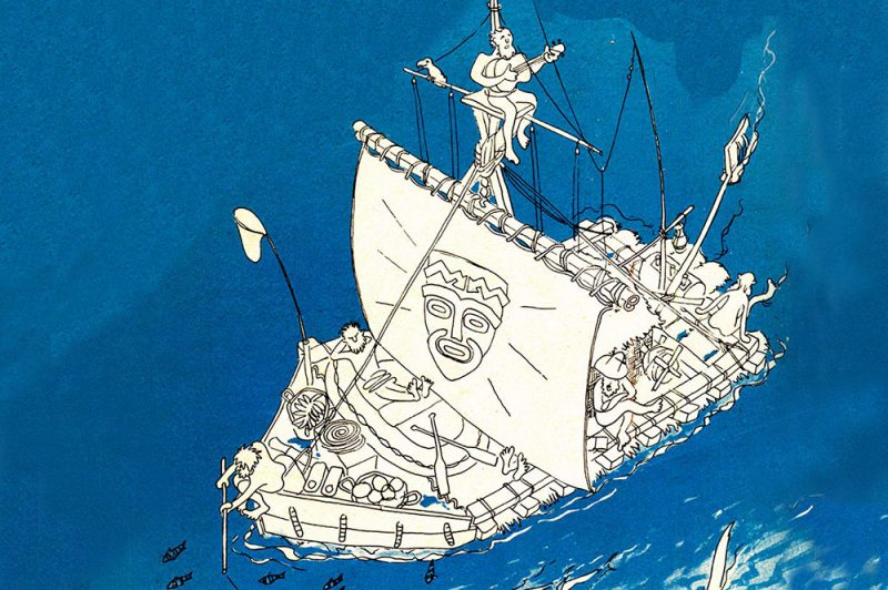 Le radeau Kon Tiki, illustration