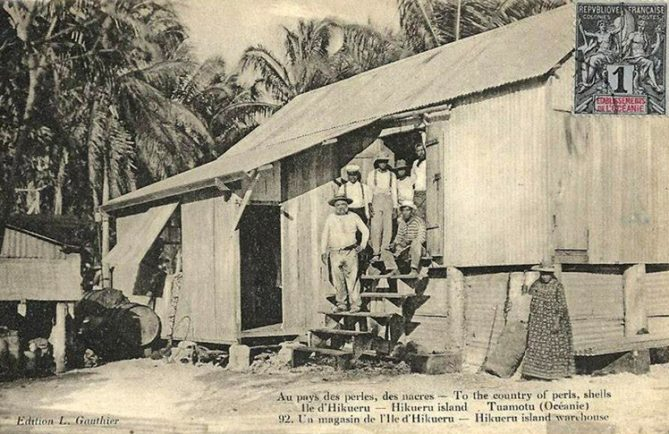 Magasin de Hikueru, Tuamotu. Photo Gauthier