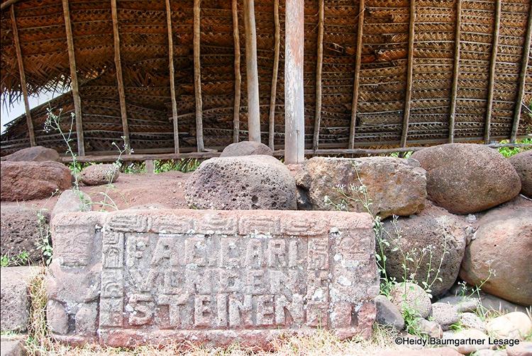 Stèle en mémoire à Van den Steinen, Hiva Oa