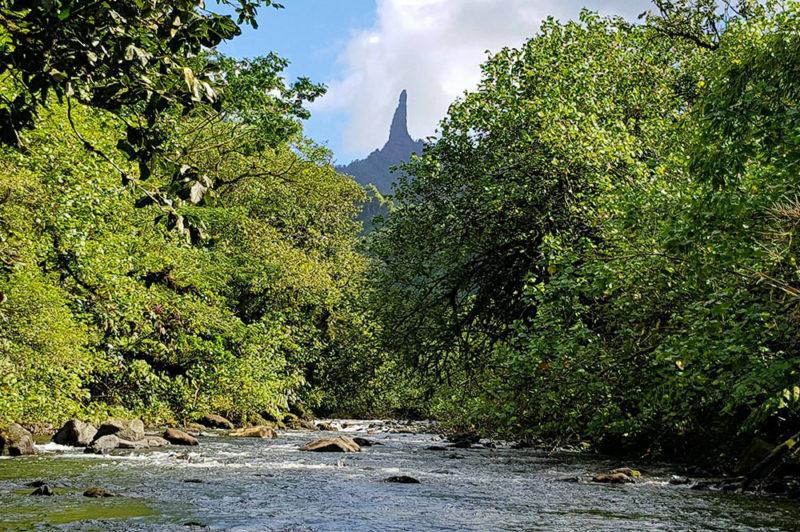 Mont Te Ure Vai Arava, marionnette de Chirac. Photo Chantal Tahiti iti
