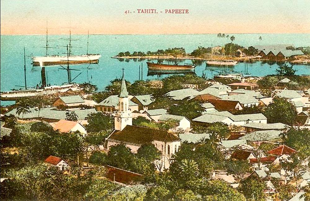 Vue générale de Papeete , vers 1890. Photo Georges Spitz
