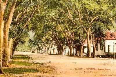 Avenue Bruat vers 1890 Photo Georges Spitz.