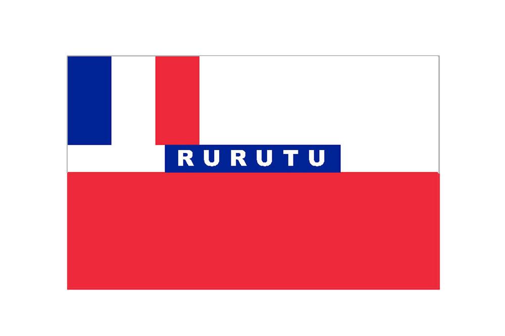 Drapeau de Rurutu sous le Protectorat (1858-1889)
