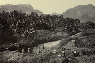 Vallée de la Fautaua. Tahiti, 1896. Photo Arthur Baessler