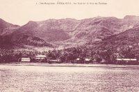 Baie de Taihoae à Niku Hiva vers 1930