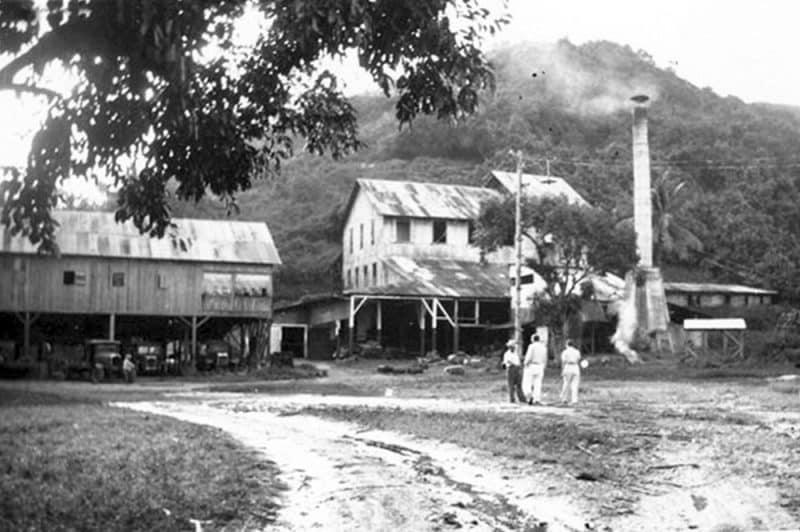 La Rhumerie de Papara dans les années 30. Photo Bambridge