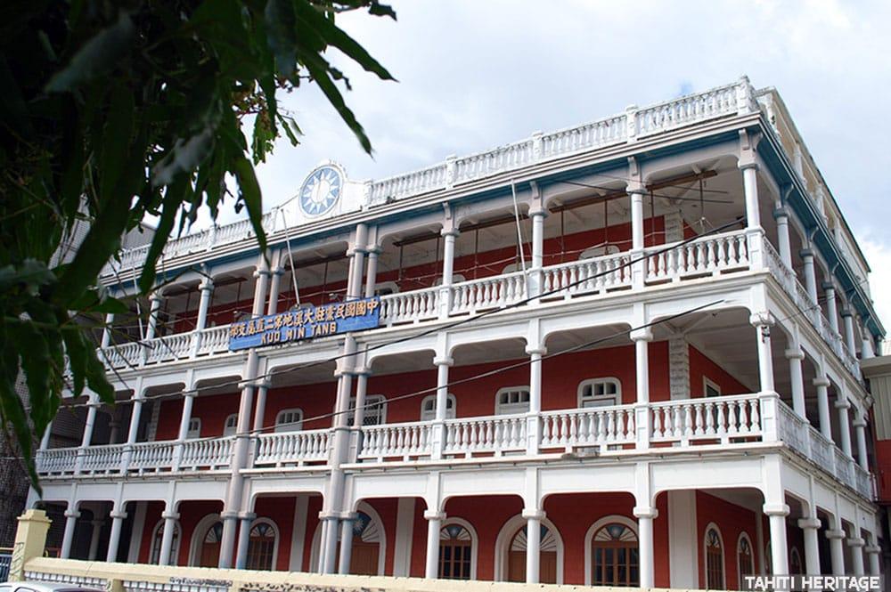 Bâtiment du Kuo Min Tang 2 à Papeete en 2000. © Tahiti Heritage
