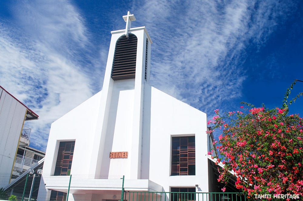 Temple protestant de Bethel à Papeete. © Tahiti Heritage