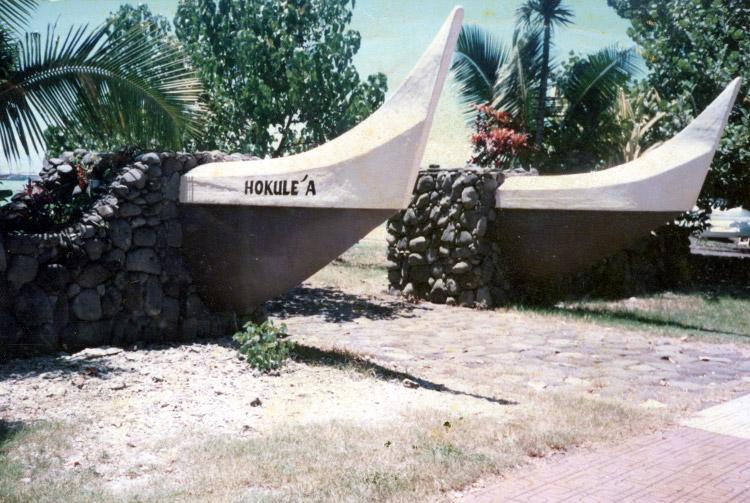 La pirogue double Hokulea en 1976