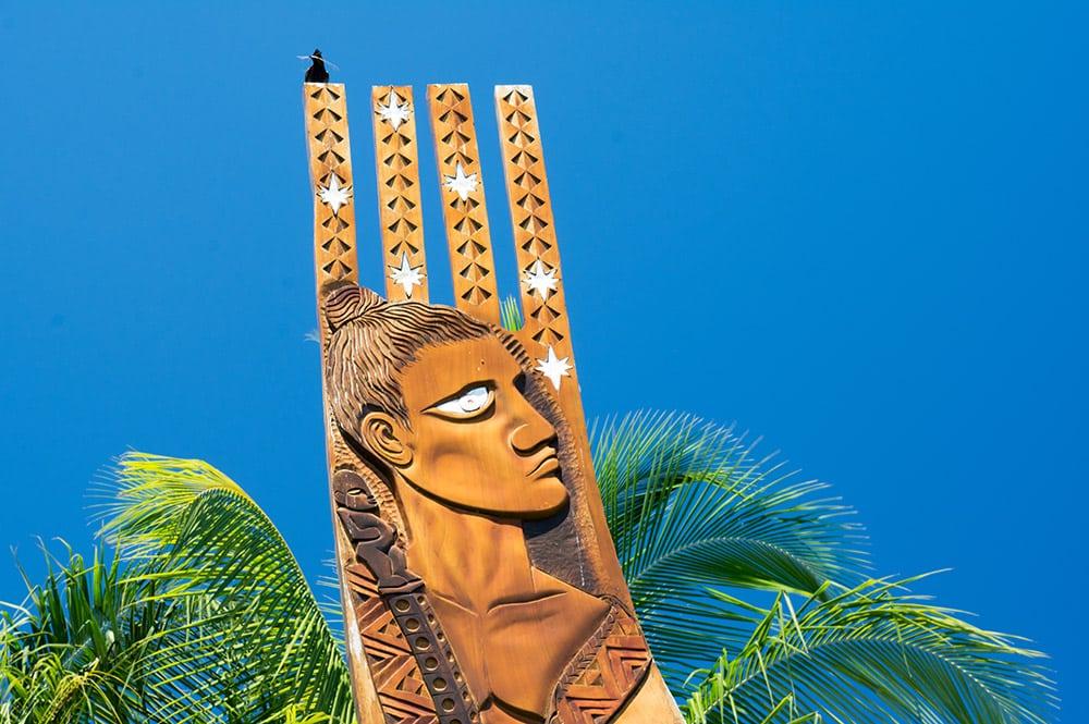 Monument Hokulea dans les jardins de Paofai, Papeete, en 2016