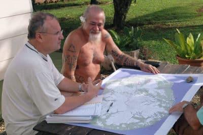 Recensement du patrimoine à Tubuai. Olivier Babin et Raymond Graffe