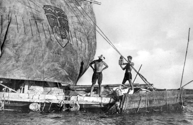 Le radeau Kon Tiki, en 1947.