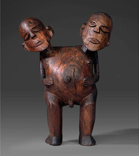 British Museum, London. Double-Headed Figure - Society Islands, Tahiti, probably Matavai Bay