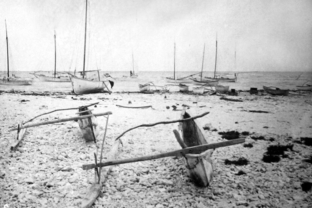 Pirogues à Hikueru en 1900