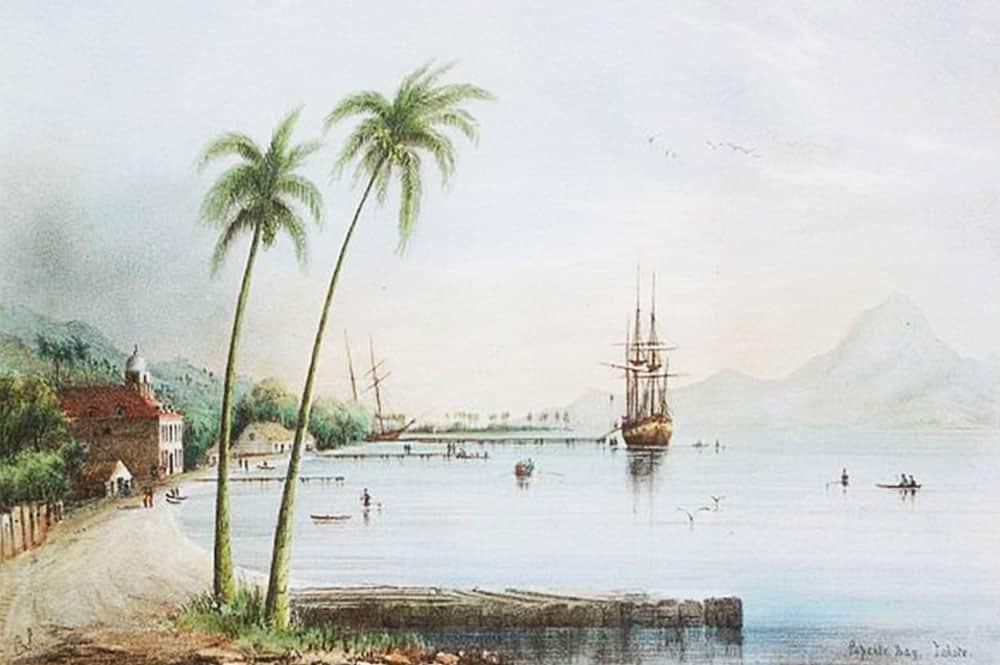 La baie de Papeete en 1848, Shipley Conway
