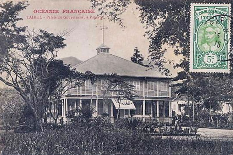 Hôtel du gouvernement ou Palais du Gouverneur à Papeete en 1915. Photo Homes
