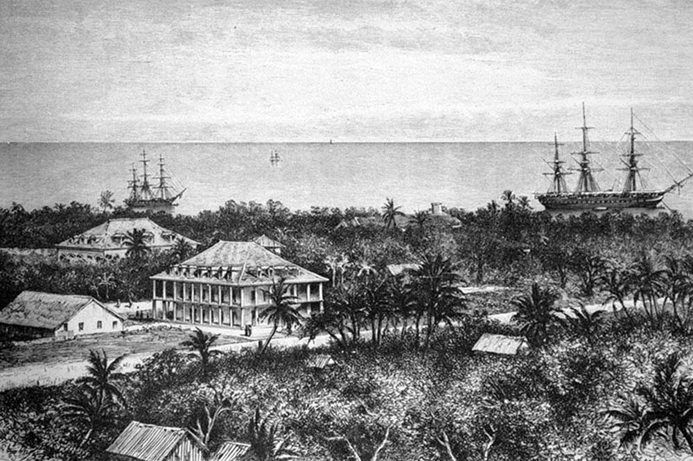 Palais royal de la Reine Pomare à Papeete