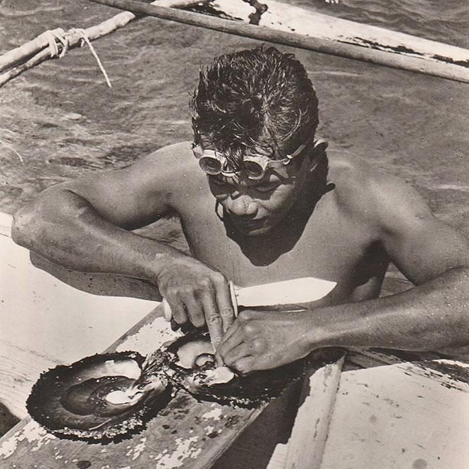 Plongeur de nacre dans les années 50