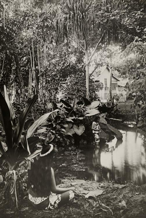 Le bassin de la reine vers 1910. Photo Lucien Gauthier